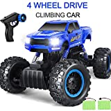AOKESI 1:12 RC Cars Monster Truck 4WD Dual Motors Rechargeable Off Road Remote Control Truck Rock Crawler Car RC Hobby Truck Gifts for Boys,Girls,Kids/Adults- Blue