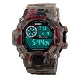 USWAT 50M Dive Swim Waterproof Relogio Men Military Sports Watch LED Digital Camouflage Multifunction Fashion Dress Outdoor Wrist Watches