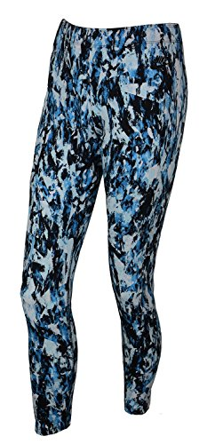 Nike Women's Leg A See All Over Print Sport Casual Leggings-University Blue/Black-Medium