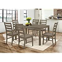 WE Furniture 7 Piece Homestead Wood Dining Set - Aged Grey