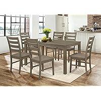 WE Furniture 7 Piece Homestead Wood Dining Set - Aged Grey