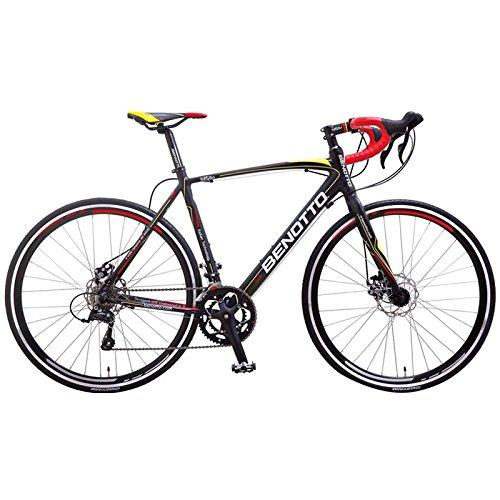 Benotto 1550 Ruta Bicicleta de Aluminio, Frenos Carrera, Multicolor, Extra Larg