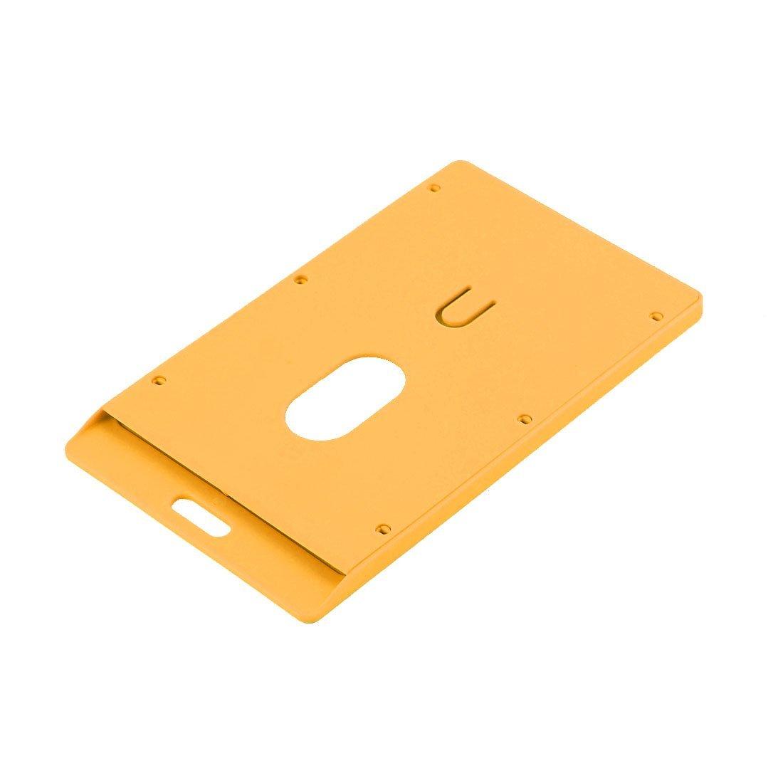 Amazon.com : Escuela de plástico eDealMax Trabajo Vertical Nombre tarjeta de identificación Oficina 9x5.4cm Naranja Titular : Office Products
