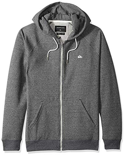 (Quiksilver Men's Everyday Zip Fleece, Dark Grey Heather L)
