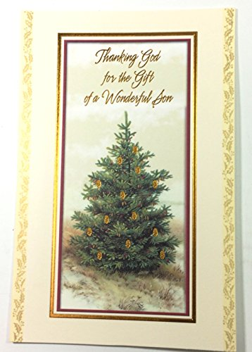 Christmas Card For Son(Thanking God for the Gift of a Wonderful Son..) American Greetings ea (Thanking For The Gift)