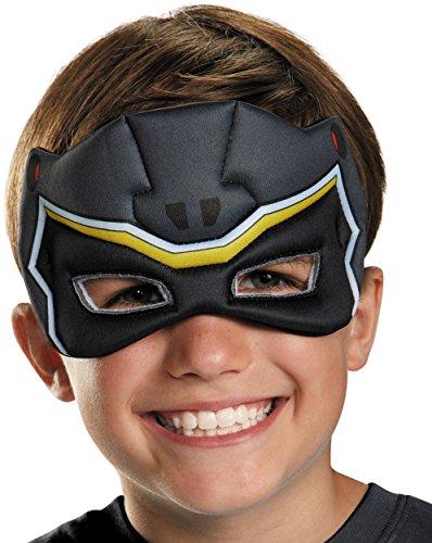 [Black Ranger Dino Charge Puffy Mask] (Black Power Ranger Costume For Sale)