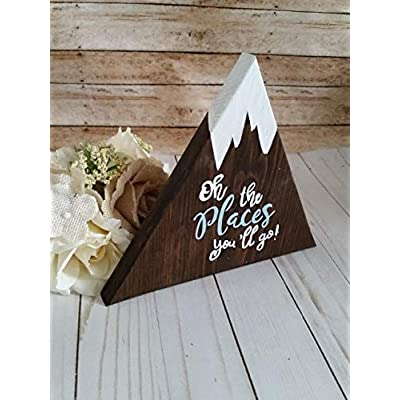Wooden mountain signs, individual or a set of 3, Adventure themed nursery: Handmade