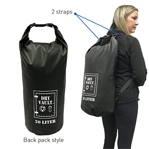 3 Bag Set - DRY VAULT – DRY BAG SETS – 500D PVC Tarpaulin – 20L, 10L, 5.8L with shoulder straps - WEATHERPROOF - WATERPROOF BAGS - BEST DEAL ON AMAZON - 100% Guaranteed -3 QUALITY Bags for Price of 1 by EasyGoProducts (Image #3)