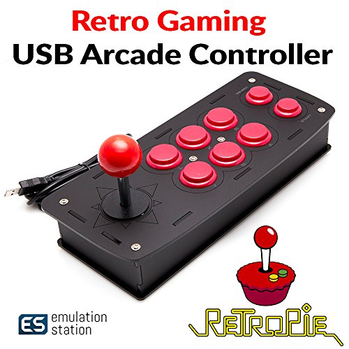Crisp Concept Inc. Retro Games Arcade Type Controller Compatible with RetroPie Raspberry Pi ()
