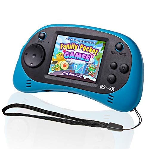 LIVKIDS Kids Portable Game Player, RS-8X 16 Bit HD Handheld Game Console Built-in 42 Classic Games 2.5 Inch Retro Video…