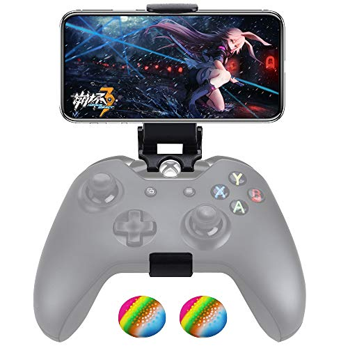 Customized Controller Foldable Mobile Phone Clip Compatible with Xbox One/Steelseries Nimbus/Steam Controllers, Smartphone Clamp Holder Work with -