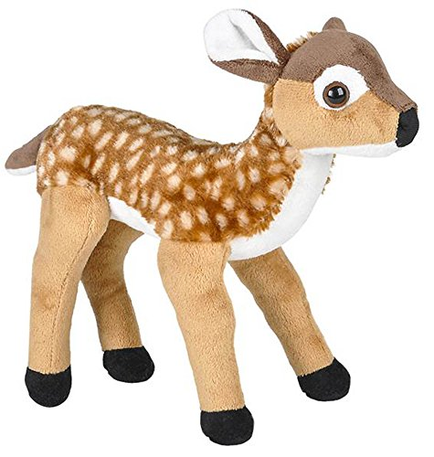 te-Tailed Deer Fawn Stuffed Animal Plush Floppy Zoo Species Collection ()