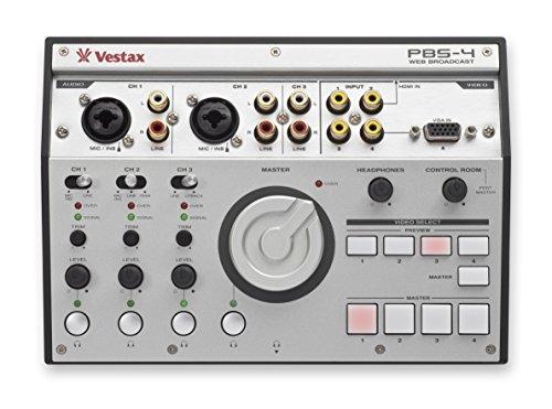 Vestax PBS-4 Personal Live Web Broadcasting Audio & Video Mixer Personal Audio Mixer