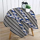Murder Scene Square Polyester Tablecloth,Metal Shutter with Police Do Not Cross Tape Restricted Area Crime Image Decorative,Dining Room Kitchen Square Table Cover,60W X 60L inches,Grey Blue White