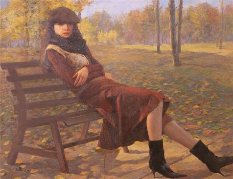 Oil Painting 'Portrait Of A Girl In The Park' Printing On Perfect Effect Canvas , 10x13 Inch / 25x33 Cm ,the Best Basement Decoration And Home Decor And Gifts Is This Replica Art DecorativeCanvas Prints