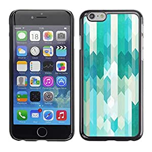 X-ray Impreso colorido protector duro espalda Funda piel de Shell para Apple iPhone 6 Plus(5.5 inches)- Stripes Vertical Subtle Tones Mellow