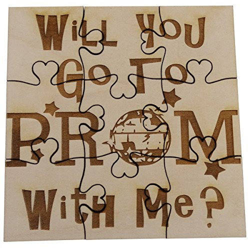 Will You Go To Prom With Me - 9 Piece Square Basswood Jigsaw Puzzle, Promposal