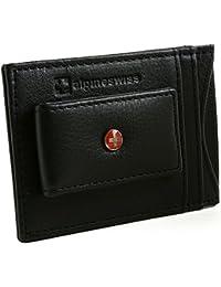 RFID Blocking Men's Magnetic Money Clip Leather Front Pocket Wallet