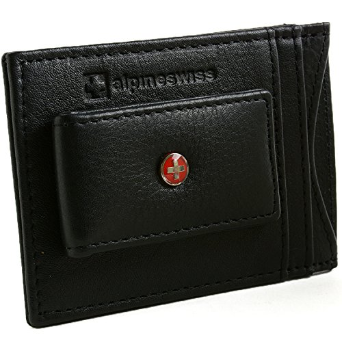 Alpine Swiss Blocking Magnetic Leather