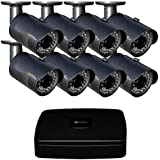 Q-See Surveillance System QC918-8Y6-2 8-Channel HD Analog DVR with 2TB Hard Drive, 8-1080p Security Cameras (Black)