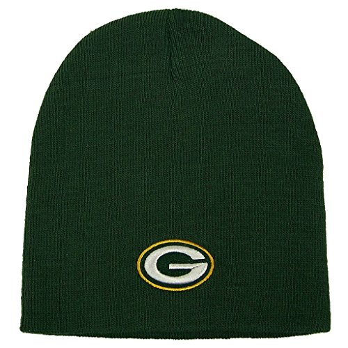 Green Bay Packers Adult Cuffless Knit Beanie Hat Cap Team Colors
