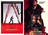 James Bond Collection For your Eyes Only - Licence to Kill 007 Blu Ray Double film Action Movie Set
