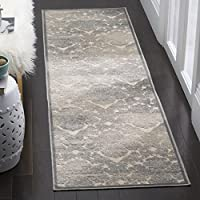 Safavieh Paradise Collection PAR307-7140 Cream and Slate Blue Runner, 22 x 8