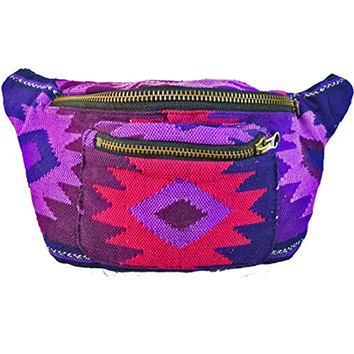 Native Tribal Fanny Pack, Boho Chic, Eco Woven  Handmade in Guatemala by Santa Playa (Típico Lust)