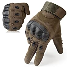 JIUSY Military Rubber Hard Knuckle Tactical Gear Gloves Full Finger Cycling Motorcycle Gloves