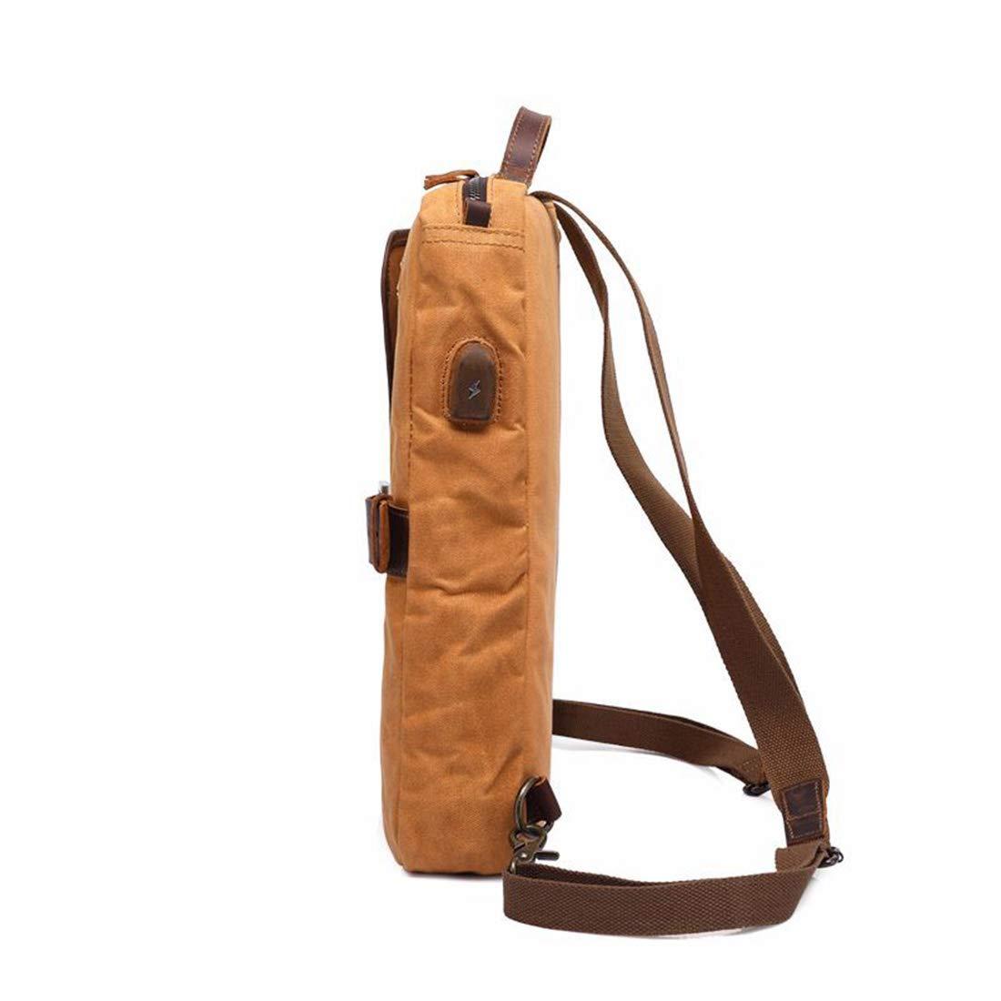 YUMUYMEY Männer Frauen Rucksack Daypack Vintage Vintage Vintage Wasserdichte Reißverschluss Canvas Aktentasche Student Outdoor Shopping (Farbe   ArmyGrün) B07NCBY59G Daypacks Moderner Modus 385067