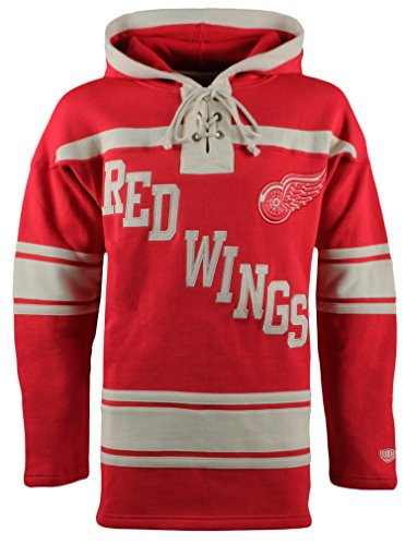 Detroit Red Wings Hoodie (NHL Detroit Red Wings Men's Original Lacer Hoodie, Large, Red)