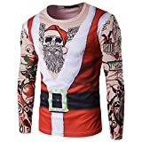 Kehome Men's Santa Suit Tattoos Top Ugly