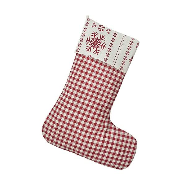 extra large 2017 new cotton holidays big gingham family christmas stockings - Big Stockings For Christmas