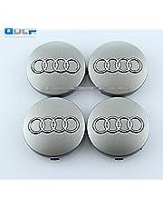SQSM Silver 4 pcs 60mm Wheel Center Caps Hubcaps