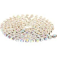 Nizi Jewelry Non Hotfix Glass Cup Chain Beads Crystal AB Rhinestones Silver Base For Clothes Shoes Jewelry Decorations...