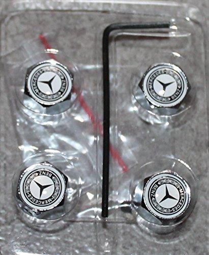 4 tapones de válvula con antirrobo Logo Mercedes Benz: Amazon.es: Deportes y aire libre