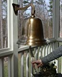 14'' Antiqued Brass Wall Bell