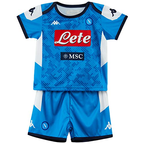 Napoli Blue Shirt - Ssc Napoli Italian Serie A Baby Home Match Kit, SkyBlue, 24 Months