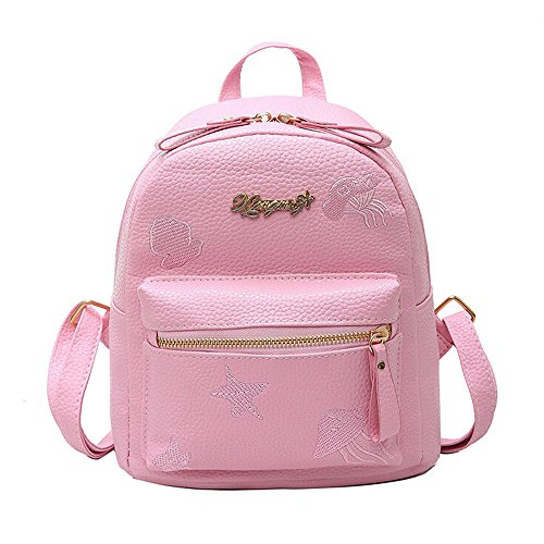 Lurryly Leather Backpack Women Girls Boys Travel Bags Child Bookbag Primary Schoolbag