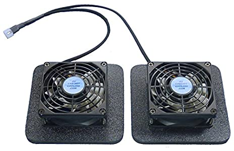 AV Cabinet Cooling Receiver or amplifier cooling fans - I was looking to  cool my Denon AVR
