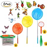 "Butterfly Net Bug Catcher Kit, Great for Catching Insects Bugs Fishing, Outdoor Tools for Kids Playing, Extendable from 6.8"" to 34"""