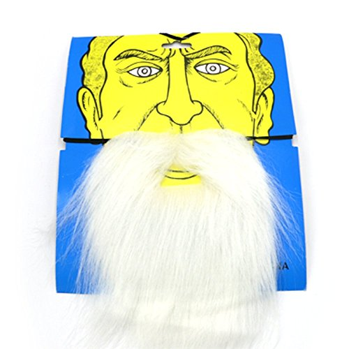 [Christmas Santa Claus Mustache Christmas Party Favor (white)] (Fake Beards That Look Real)