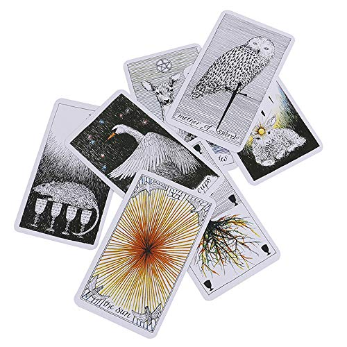 MonLiya 78Pcs/Set- Wild Unknown Tarot Deck Universal Mysterious Future Telling Game Card Set with Colorful Box Guessing Board Game Gift Poker Desk Toys by MonLiya (Image #4)