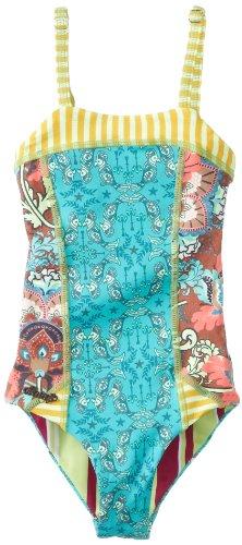 Maaji Little Girls'  Parrot Paradise One Piece Swimsuit, Multi, 4