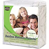 Utopia Bedding Waterproof Bamboo Mattress Protector - Hypoallergenic Fitted Mattress Cover - (King)