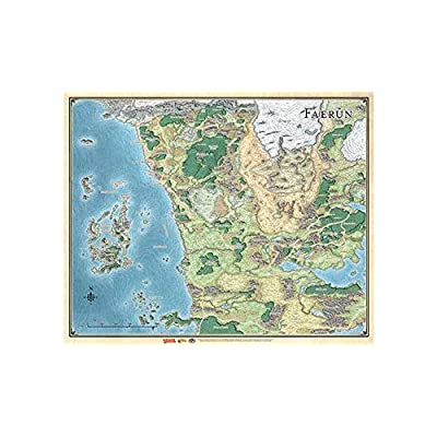 Dungeons & Dragons Sword Coast Adventuer's Guide Faerun Map: Toys & Games
