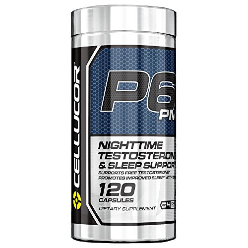 P6 PM Testosterone Booster & Sleep Aid Supplement for Men | 120 Capsules | Maximize Free Testosterone Levels, Improve Night Time Rest & Muscle Recovery
