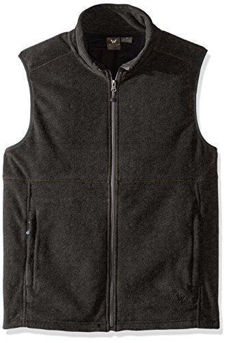 White Sierra Mountain Ii Vest, Charcoal Heather, (Brown Fleece Vest)
