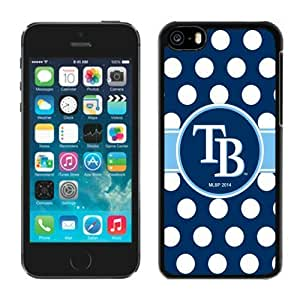 Custom for iphone 5/5S Case MLB Tampa Bay Rays 3 Pensonalized Phone Covers