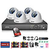 ANNKE HD-TVI 1080P H.264+ 4 Channel DVR 4pcs 1080P 2.0MP Security Cameras System with 1TB Hard Disk,Outdoor Surveillance Camera System